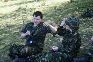 Camo and Concelment - Trying on Kevlar Helmets